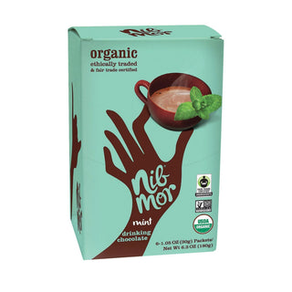 Nibmor Organic Drinking Chocolate - Mint - Case Of 6 - 1.05 Oz