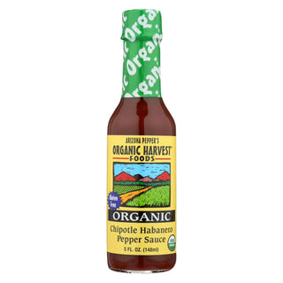 Organic Harvest Pepper Sauce - Chipotle Habanero - Case Of 12 - 5 Oz.