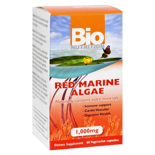 Bio Nutrition - Red Marine Algae - 1000 Mg - 60 Vegetarian Capsules