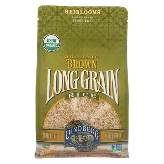 Lundberg Family Farms Organic Brown Long Grain Rice - Case Of 6 - 2 Lb.