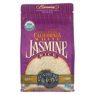 Lundberg Family Farms Organic California White Jasmine Rice - Case Of 6 - 2 Lb.