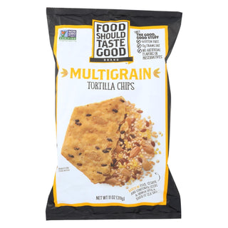 Food Should Taste Good Multigrain Tortilla Chips - Multigrain - Case Of 12 - 11 Oz.