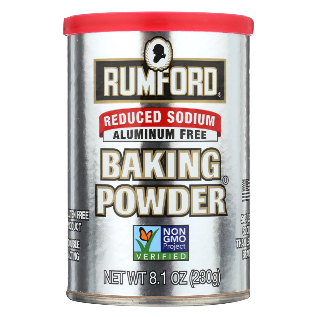 Rumford Baking Powder - Reduced Sodium - Case Of 12 - 8.1 Oz.