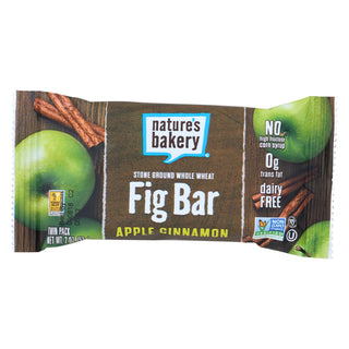 Nature's Bakery Stone Ground Whole Wheat Fig Bar - Apple Cinnamon - Case Of 12 - 2 Oz.
