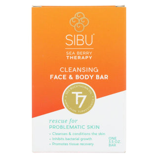 Sibu Cleansing And Detoxifying Facial Bar Soap - 3.5 Oz
