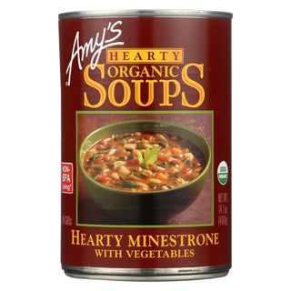 Amy's - Organic Hearty Vegetable Minestrone Soup - Case Of 12 - 14.1 Oz