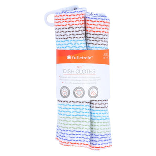 Full Circle Home Tidy Dish Cloths - 12 Inch X 12 Inch - 3 Pack