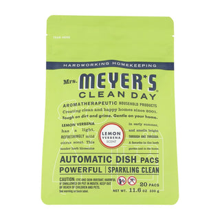 Mrs. Meyer's Clean Day - Automatic Dishwasher Packs - Lemon Verbena - 12.7 Oz