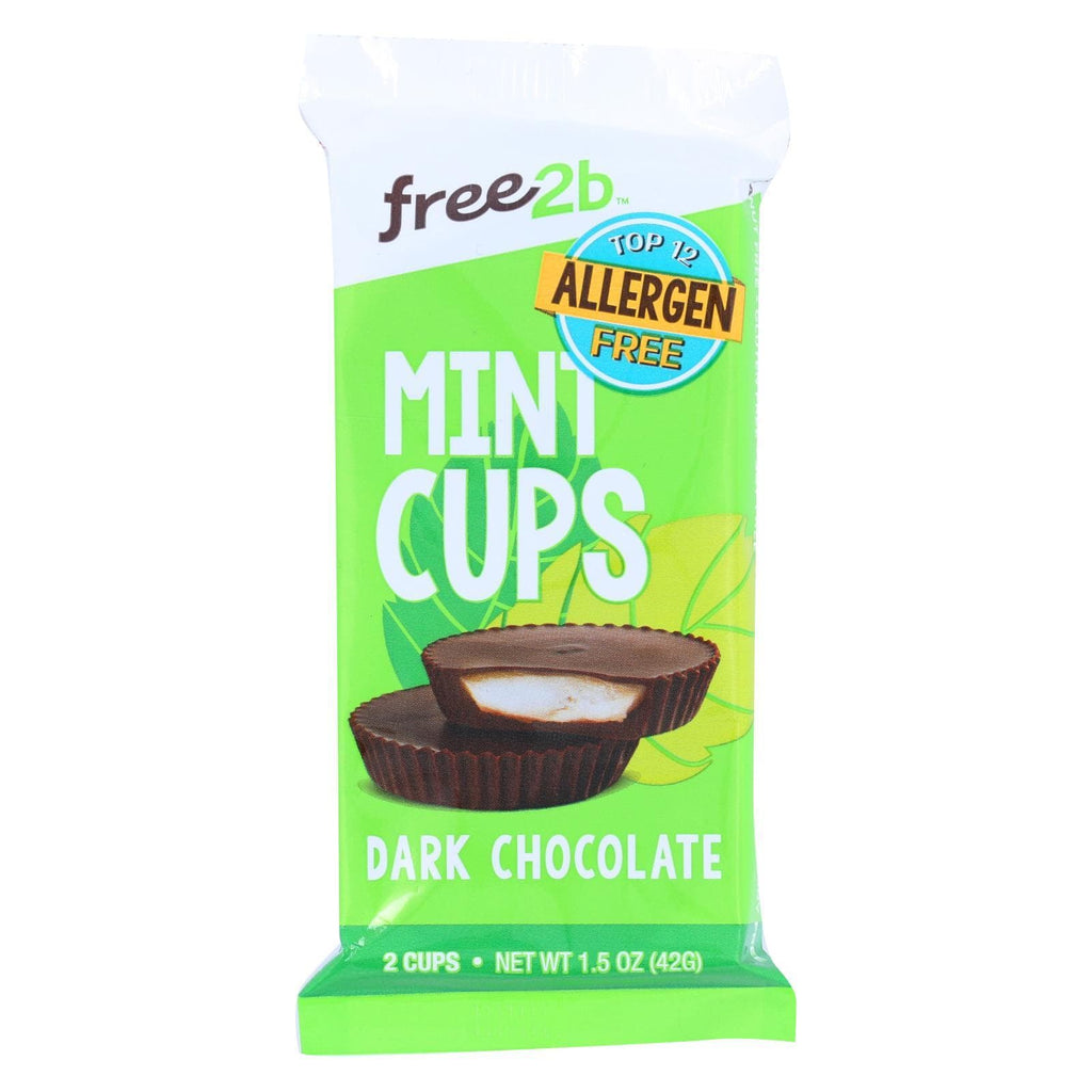 Suncup Sunflower Butter Cups - Dark Chocolate Mint - 1.5 Oz - Case Of 12