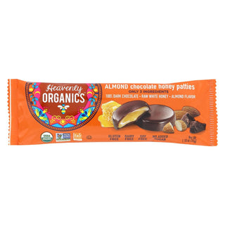 Heavenly Organics Honey Patties - Chocolate Almond - 1.2 Oz - Case Of 16