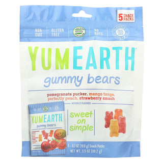 Yumearth Organics Organic Gummy Bear - Snack - Case Of 12 - 0.7 Oz.