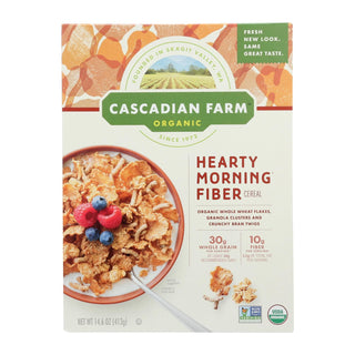 Cascadian Farm Organic Cereal - Hearty Morning - Case Of 10 - 14.6 Oz