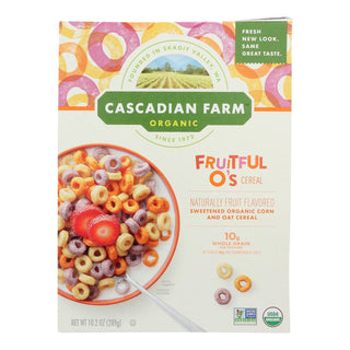 Cascadian Farm Organic Cereal - Fruitful Os - Case Of 10 - 10.2 Oz