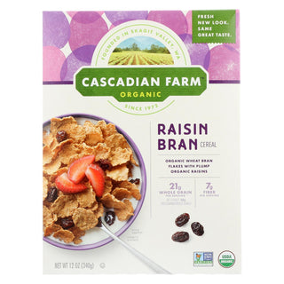 Cascadian Farm Organic Cereal - Raisin Bran - Case Of 10 - 12 Oz