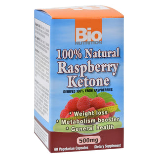 Bio Nutrition - Raspberry Keytones - 500 Mg - 60 Ct