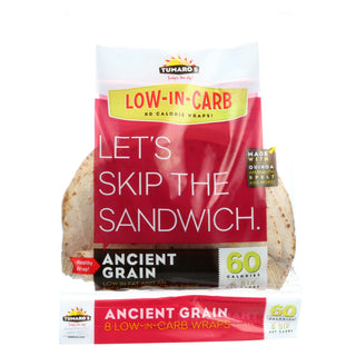 "Tumaros Low-in-carb Wraps - Ancient Grain - 8"" -  8 Ct. - Case Of 6"