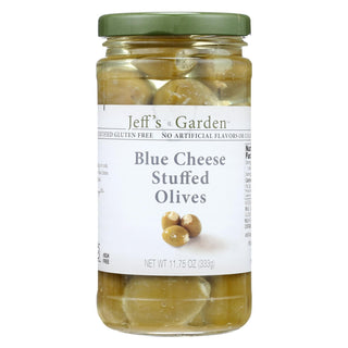 Jeff's Natural Jeff's Natural Blue Cheese Stuffed Olives - Cheese Stuffed - Case Of 6 - 11.75 Oz.