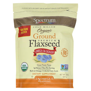 Spectrum Essentials Flaxseed - Organic - Ground - Premium - 24 Oz