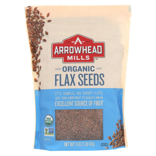 Arrowhead Mills - Organic Flax Seeds - Case Of 6 - 16 Oz.