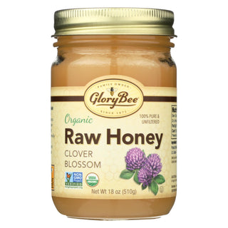 Glorybee Raw Clover - Honey - Case Of 6 - 18 Oz.