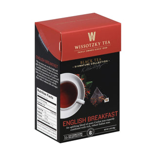 Wissotzky English Breakfast Tea - Case Of 6 - 16 Bag