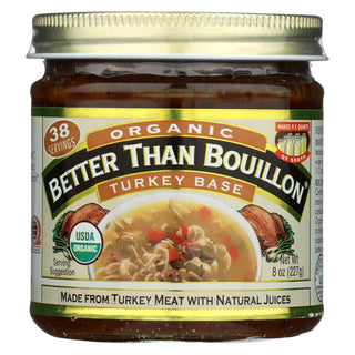 Better Than Bouillon Organic Bouillon - Turkey Base - Case Of 6 - 8 Oz