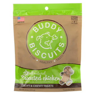 Cloud Star Buddy Biscuits Dog Treats - Roasted Chicken - Case Of 12 - 6 Oz.
