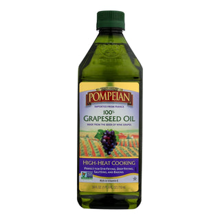 Pompeian 100% Grapeseed Oil  - Case Of 6 - 24 Fz