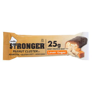 Nugo Nutrition Bar - Stronger Peanut Cluster - 2.82 Oz - Case Of 12