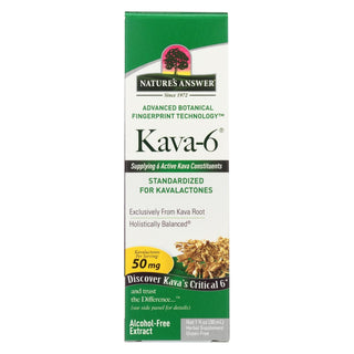 Nature's Answer - Kava 6 Extract - Alcohol Free - 1 Oz