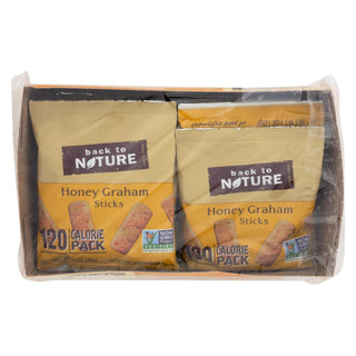 Back To Nature Honey Graham Sticks - Graham Flour And Honey - Case Of 4 - 1 Oz.