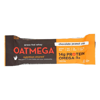 Oatmegabar Protein Bar - Dark Chocolate Peanut - 1.8 Oz Bars - Case Of 12