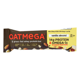 Oatmegabar Protein Bar - Vanilla Almond Crisp - 1.8 Oz Bars - Case Of 12