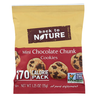 Back To Nature Mini Chocolate Chunk Cookies - Case Of 100 - 1.25 Oz.