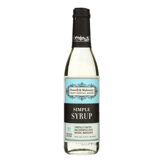 Powell And Mahoney Cocktail Mixer - Simple Syrup - Case Of 6 - 12.68 Oz
