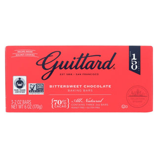 Guittard Chocolate Variety Mix - Unsweetened, Bittersweet And Semisweet - Case Of 12 - 2 Oz.
