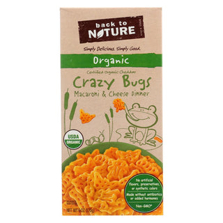 Back To Nature Organic Crazy Bugs - Macaroni And Cheese Dinner - Case Of 12 - 6 Oz.