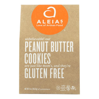 Aleia's - Gluten Free Cookies - Peanut Butter - Case Of 6 - 9 Oz.