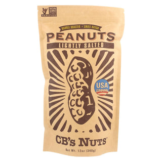 Cb's Nuts Peanuts - Low Sodium - Jumbo - In Shell - Case Of 12 - 12 Oz