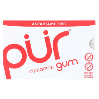 Pur Gum - Cinnamon - Aspartame Free - 9 Pieces - 12.6 G - Case Of 12