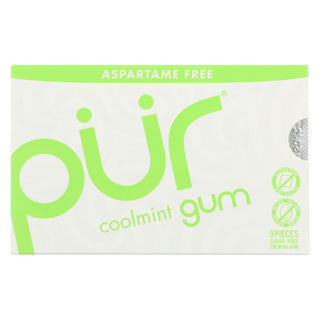 Pur Gum - Coolmint - Aspartame Free - 9 Pieces - 12.6 G - Case Of 12