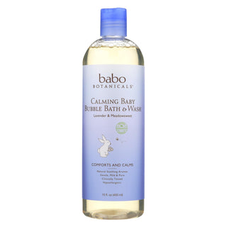 Babo Botanicals - Shampoo Bubblebath And Wash - Calming - Lavender - 15 Oz
