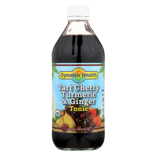 Dynamic Health Tonic - Tart Cherry Turmeric And Ginger - Organic Certified - 16 Oz