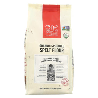 One Degree Organic Foods Sprouted Spelt Flour - Organic - Case Of 6 - 32 Oz.