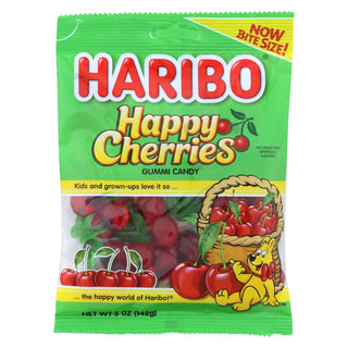 Haribo Happy Cherries Gummi Candy - Case Of 12 - 5 Oz
