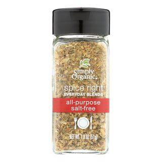 Simply Organic Spice All Purpose Seasoning Spice - Case Of 6 - 1.8 Oz.