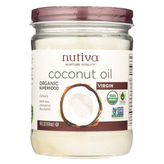 Nutiva Coconut Oil - Organic - Superfood - Virgin - Unrefined - 14 Oz - Case Of 6