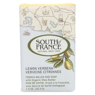 South Of France Bar Soap - Lemon Verbena - Travel - 1.5 Oz - Case Of 12