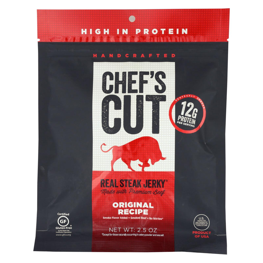Chef's Cut Real Steak Jerky - Original Recipe - Case Of 8 - 2.5 Oz.