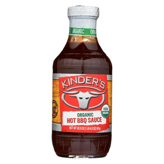 Kinders Barbeque Sauce - Organic Hot Bbq Sauce - Case Of 6 - 20.5 Oz.